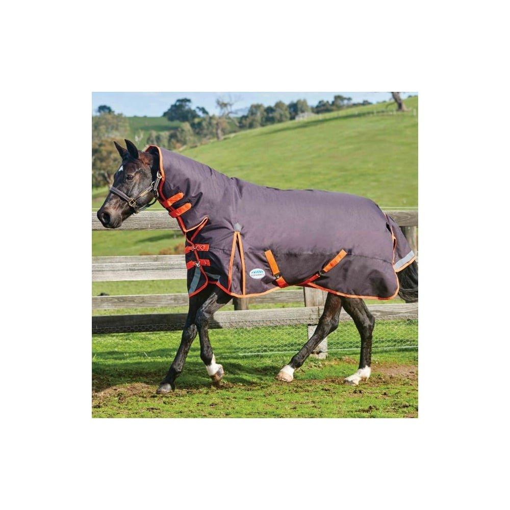 5'6 WEATHERBEETA COMFITEC Plus Dynamic Combo Neck Medium Black orange 5'6 Horse Rug