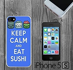 Keep Calm and Eat Sushi Custom made Case/Cover/skin For Ipod Touch 4 Phone Case Cover - White - Hard Case ( Ship From CA)