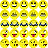 7-Inch-Emoji-Paper-Party-Plates-by-LiveEco-Emoji-Party-Supplies-50-Pack-Includes-Top-10-Most-Popular-Emojis-Great-for-Birthday-Parties-Classroom-Prizes-Arts-Crafts-and-Games