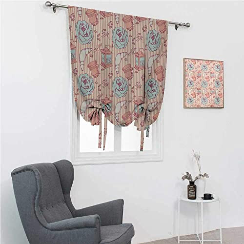 GugeABC Window Shades Shabby Chic Roman Window Shade
