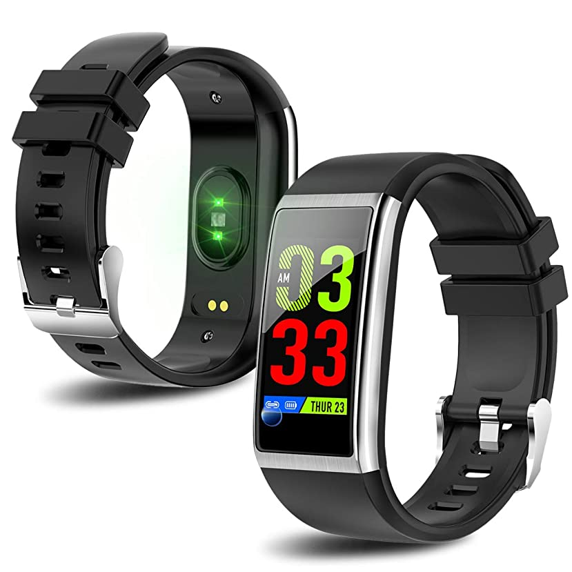 マウントバンクのりスロースマートウォッチ 血圧計 スマートブレスレット 万歩計 活動量計 心拍計 カラースクリーン IP68防水