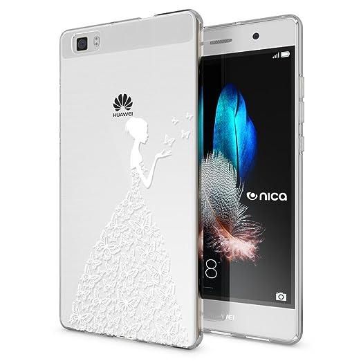 8 opinioni per Huawei P8 Lite Cover Custodia Protezione di NICA, Silicone Trasparente Sottile