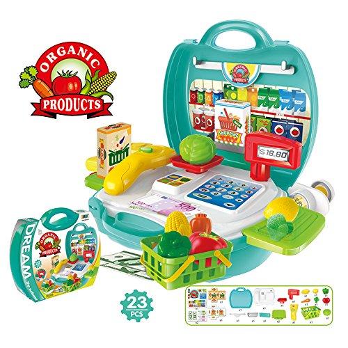 Baiyu Suppermarket Cash Register Calculator Toys Early Education
