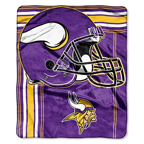The Northwest Company NFL Minnesota Vikings Touchback Plush Raschel Throw, 50