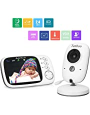 """Tenboo Baby Monitor with Camera Video Baby Monitor Wireless 3.2"""" LCD Digital Screen for Signal Transmission Two-Way Talk Support Night Vision Voice Activation Temperature Monitoring Lullabies"""