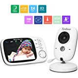 "Baby Monitor with Camera Video Baby Monitor Wireless Tenboo 3.2"" LCD Digital Screen for Signal Transmission Two-way Talk Support Night Vision Voice Activation Temperature Monitoring Lullabies"