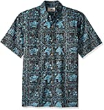 Reyn Spooner Men's Lahaina Sailor Spooner Kloth Classic Fit Hawaiian Shirt, Black, S