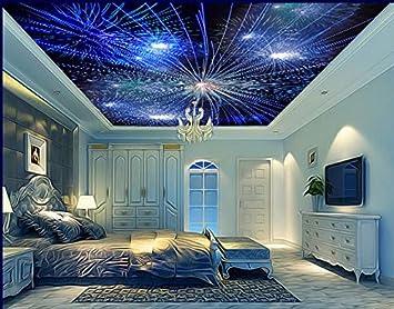 Lwcx D Wallpaper Fur Decke Custom D Wandbilder Tapeten Schillernde Feuerwerk D Decke Hintergrundbilder Fur Wohnzimmer Xcm Amazon De Baumarkt