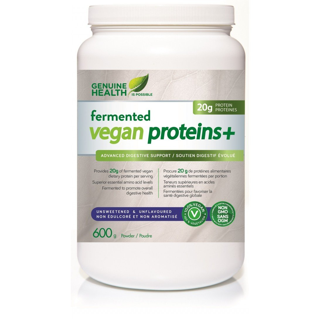 Genuine Health Fermented Vegan Proteins+ (Unsweetened & Unflavoured)