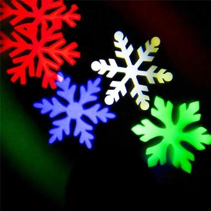 DevilLover Luces de Proyector Copos de Nieve Blancos y de Colores ...