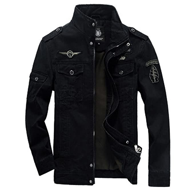 2c05914a840 Men s Military Style Air Force Jacket Military Coat Tops (UK X-Small(Asian