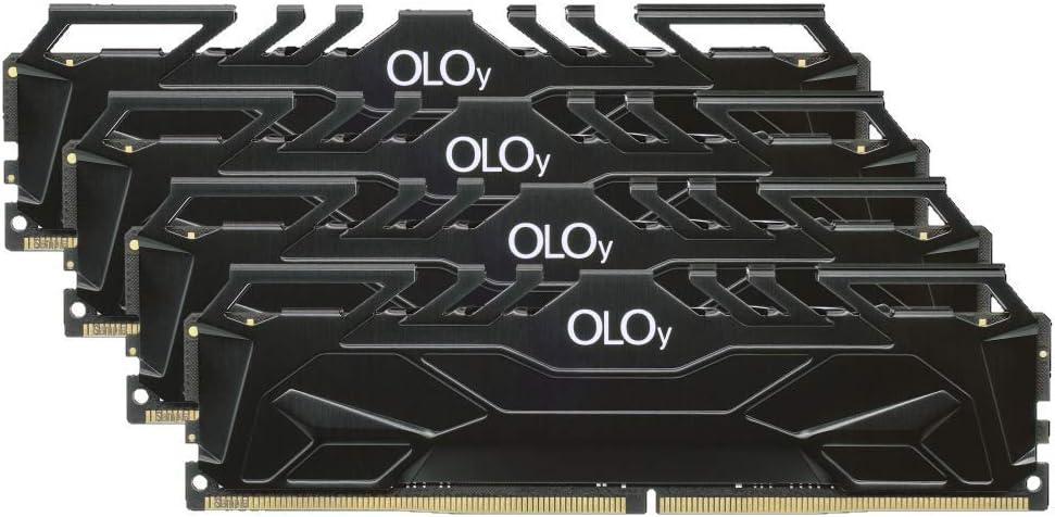 OLOy DDR4 RAM 64GB (4x16GB) 3000 MHz CL16 1.35V 288-Pin Desktop Gaming UDIMM (MD4U163016BJQA)