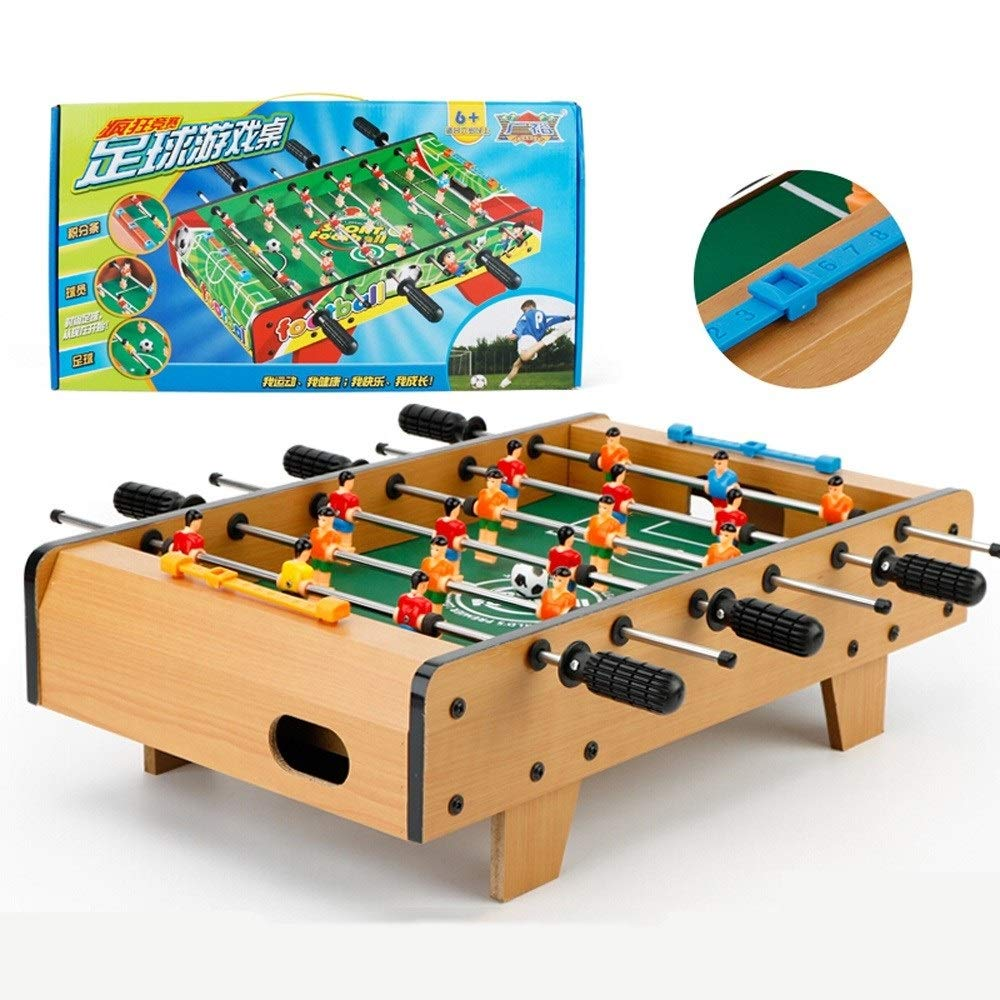 HHtoy Solid Wood Football Table Games Foosball Table Soccer Tables Party Soccer Game Toy Set with Wooden Frame for Kids Family and Party - 48.5 28 13.5cm by HHtoy