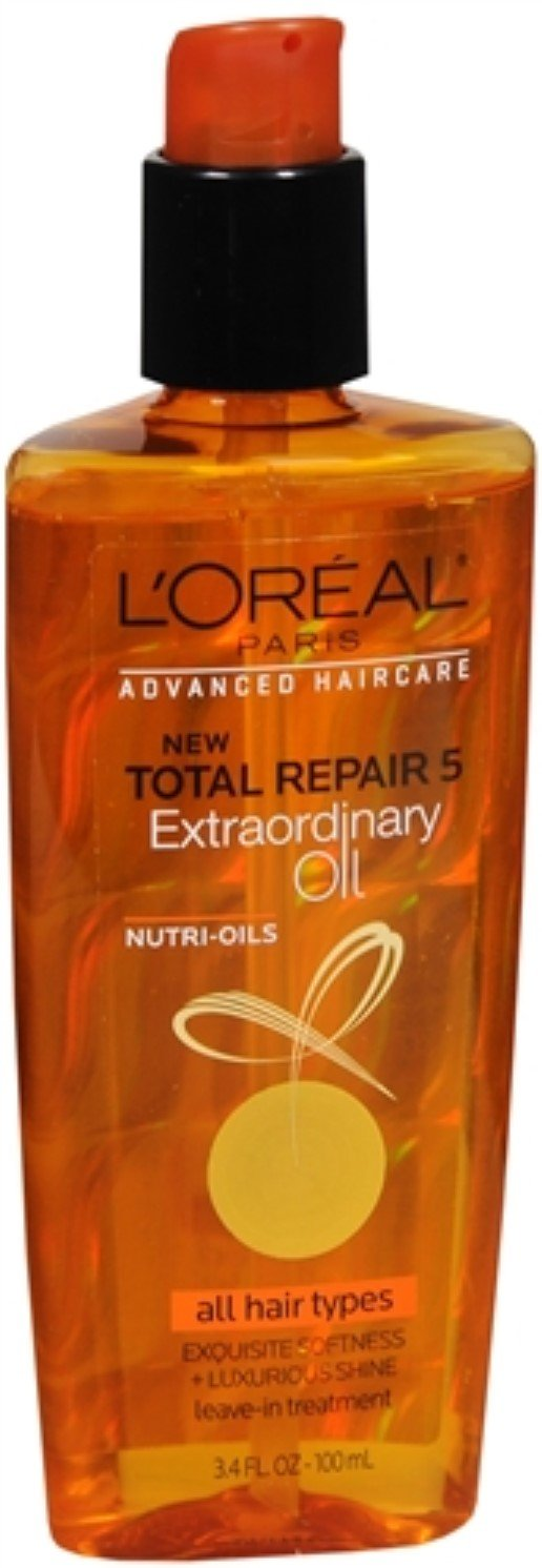 L'Oreal Advanced Haircare Total Repair 5 Extraordinary Oil All Hair Types 3.40 oz (Pack of 2)