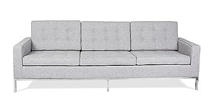 Kardiel FKL3-DACITE Florence Knoll Style 3 Seat Sofa Dacite Retrospeck Twill