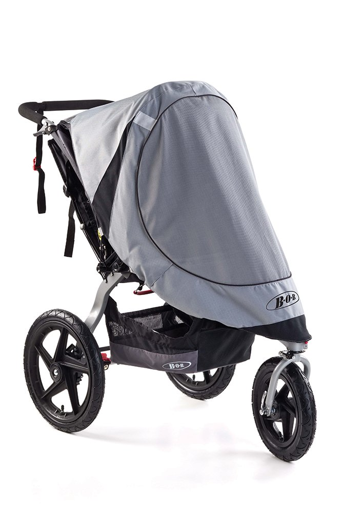 BOB Sun Shield for Single Swivel Wheel Strollers, Grey WS1301
