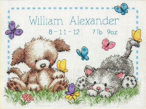 (Dimensions 70-73883 Pet Friends Birth Record, Counted Cross Stitch)