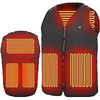 MIROCOO Chaleco Calefactable para Hombre Mujer, Chaquetas con Calefacción USB Eléctrico con 3 Niveles de Temperatura…