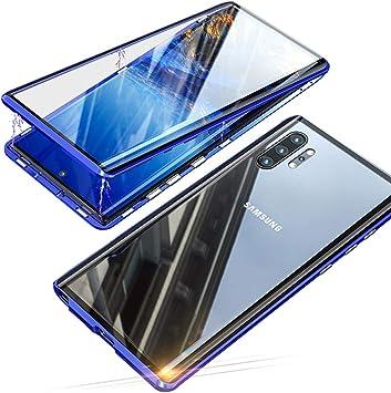 Jonwelsy Funda para Samsung Galaxy Note 10 Plus (6,8 Pulgada), Adsorción Magnética Parachoques de Metal con 360 Grados Protección Case Cover ...