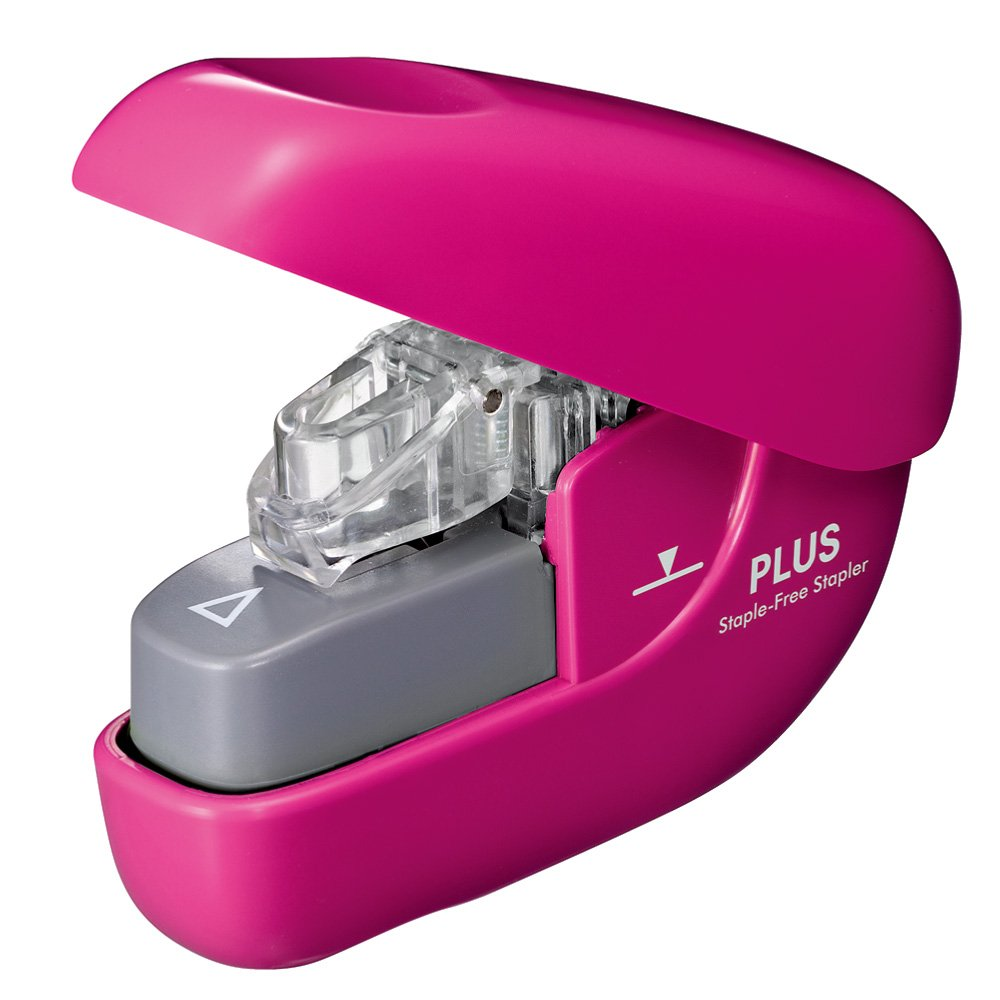 No plus needle stapler paper clinch Pink SL-106NB 31-125
