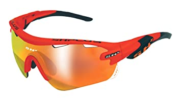 SH + RG 5100, lunettes Mixte adulte M Crystal Giallo/Revo Laser Rosso