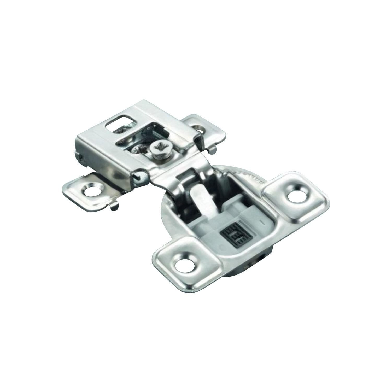 Salice Silver-finished Stamped Steel 1/2-inch 106-degree Overlay Soft-close Knock-in Face-frame Hinges (Case of 25)