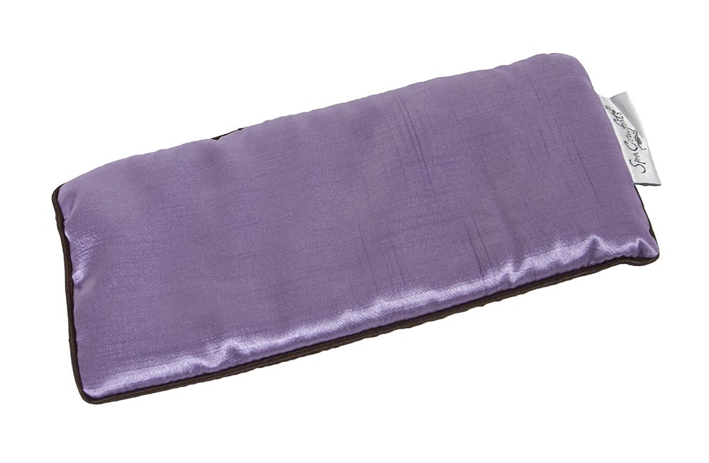 Dream Time Spa Comforts Eye Pillow, Aromatherapy Lavender, Wellness And Relaxation, Sooth Stress And Relieve Headaches, Two Tone Lavender/Chocolate Brown by Dream Time