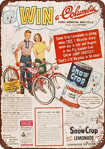 1957 Ganar un Columbia Fire Flecha Bicicleta Vintage Look ...