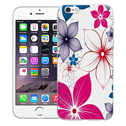 """Mobile Case Mate iPhone 6 4.7"""" Silicone Coque couverture case cover Pare-chocs + STYLET - Pink Poinsettia pattern (SILICON)"""