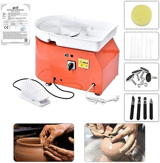 Elektrische Töpferscheibe Maschine Für Keramik Arbeit Ton Kunsthandwerk 25CM
