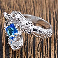 SujareeShop HK- Wedding Party Jewelry Creative Mermaid Artificial Topaz Finger Ring Gift Nim (10)