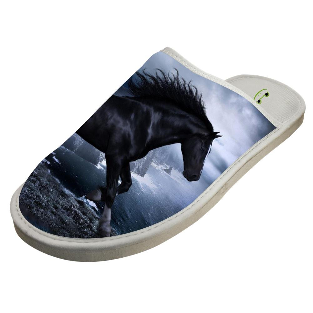 Slippers with Steed Courser Horse Custom Indoor Sandals Unisex Shoes Flat House Flip Flops 9