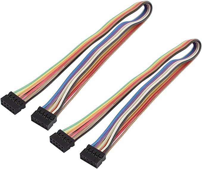 uxcell 10Pcs 4P Jumper Wires Single Female Head Ribbon Cables Pi Pic Breadboard 20cm Long