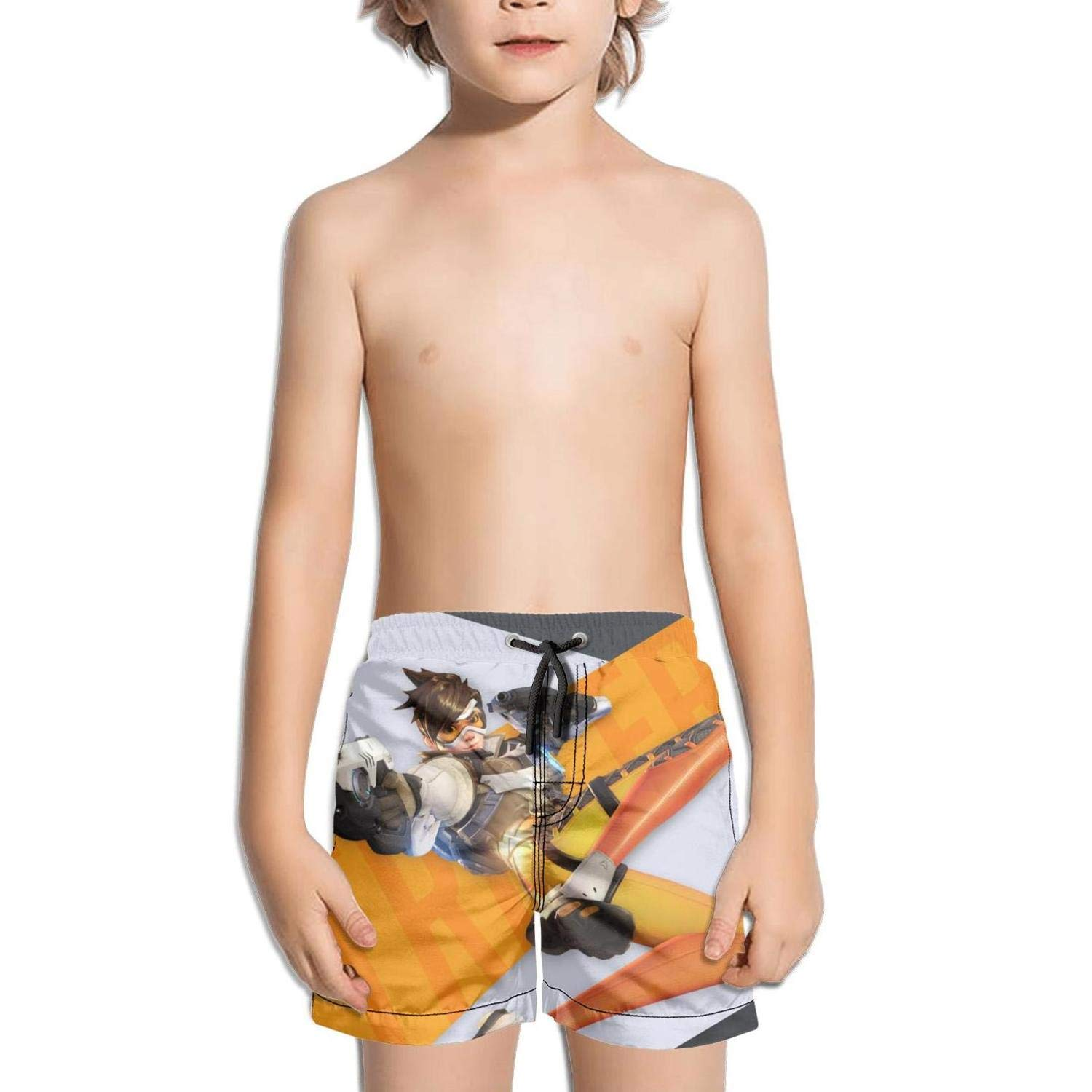 ughbhjnx Kids Vacation Solid Board Core Swim Stretch Board Shorts