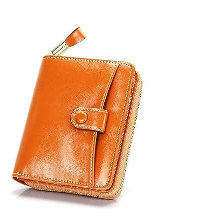 Mini Carteras Mujer Monederos de Mujer Gran Capacidad con RFID Bloqueo Bolsos Corto de Mujer con Cremallera de Bolsillo (Empaquetado con Caja de ...