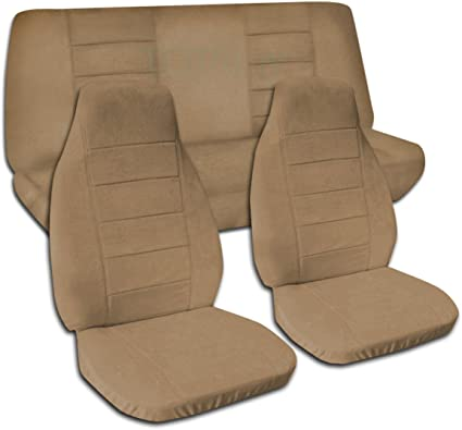 Sensational Totally Covers Fits 1997 2006 Jeep Wrangler Tj Solid Color Seat Covers Brown Full Set Front Rear 22 Colors 1998 1999 2000 2001 2002 2003 2004 Machost Co Dining Chair Design Ideas Machostcouk