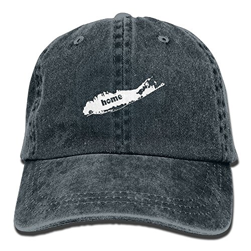 Long Island Home Washed Retro Adjustable Jeans Cap Hiking Caps For Women And Men