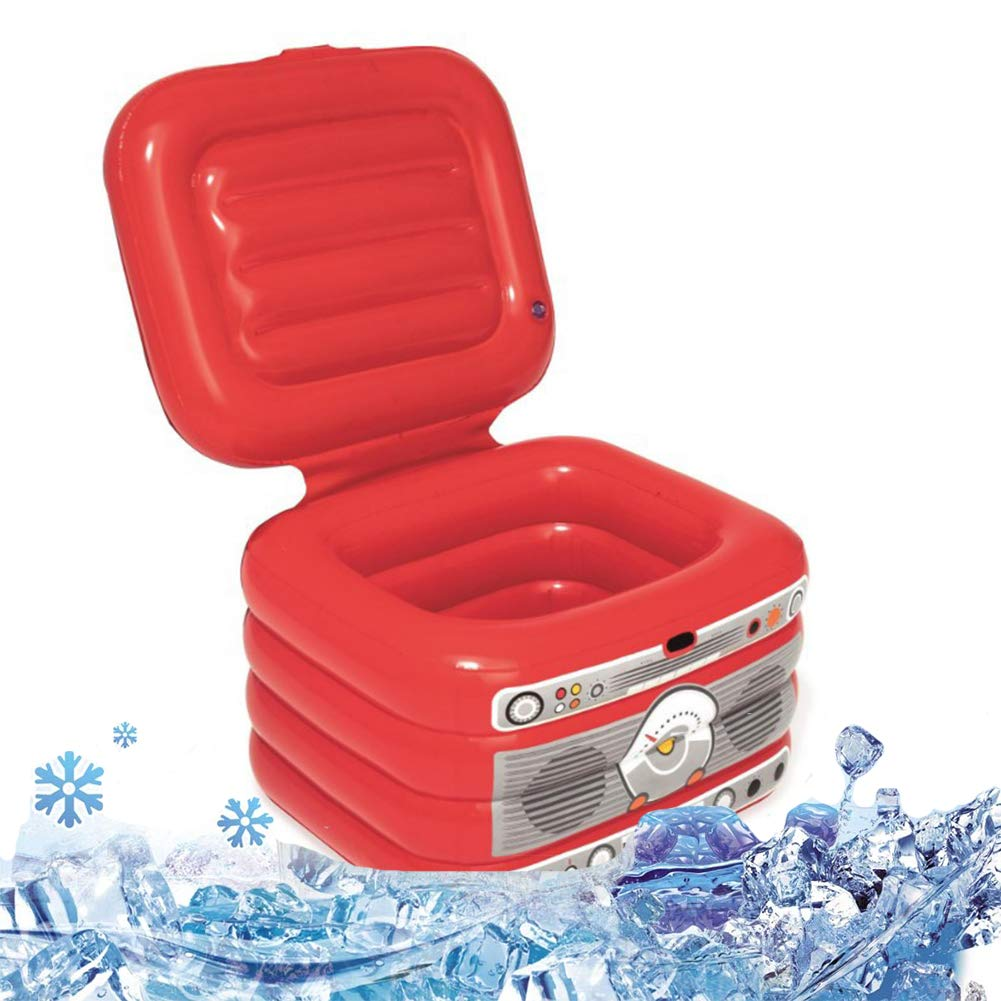 DAWNBOYE Inflatable Ice Bucket for Pool,PVC Plastic Drinks Cooler Water Ice Buckets Bag Play Water Leisure Mobile Phone Seat Cola Drink Bottle Cup Holder Carnival Party Toy,31L by DAWNBOYE