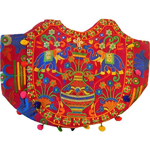 Borsa moda con di cotone specchietti colorato indiana Elefanti accessori ricamato e 7Zq7rPgv
