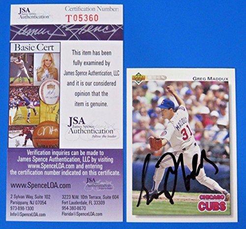 Greg Maddux Signed 1992 Upper Deck Baseball Card #353 ~ T...