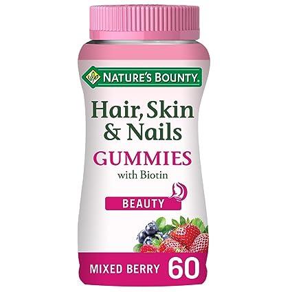 Natures Bounty Complemento alimenticio para el Pelo, Piel y Uñas Gummies - 60 Unidades