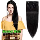 40-55cm Extension Capelli Veri Clip 8 Fasce 100% Remy Human Hair Capelli Naturali Lisci