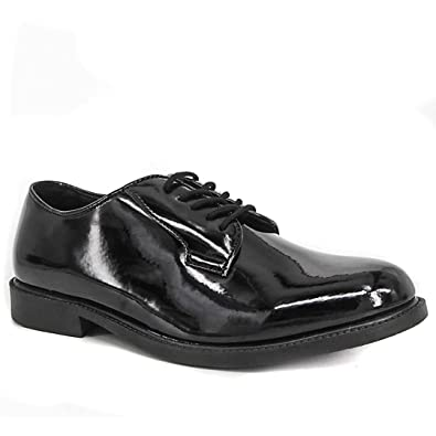 00c31f0ad9 WIDEWAY Men's Uniform Dress Shoes High Glossy Oxford Shoes Full Grain  Leather Office Shoes (7