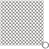 Blisstime Cast Iron Cleaner Premium Stainless Steel Chainmail Scrubber (6IN X 6IN)