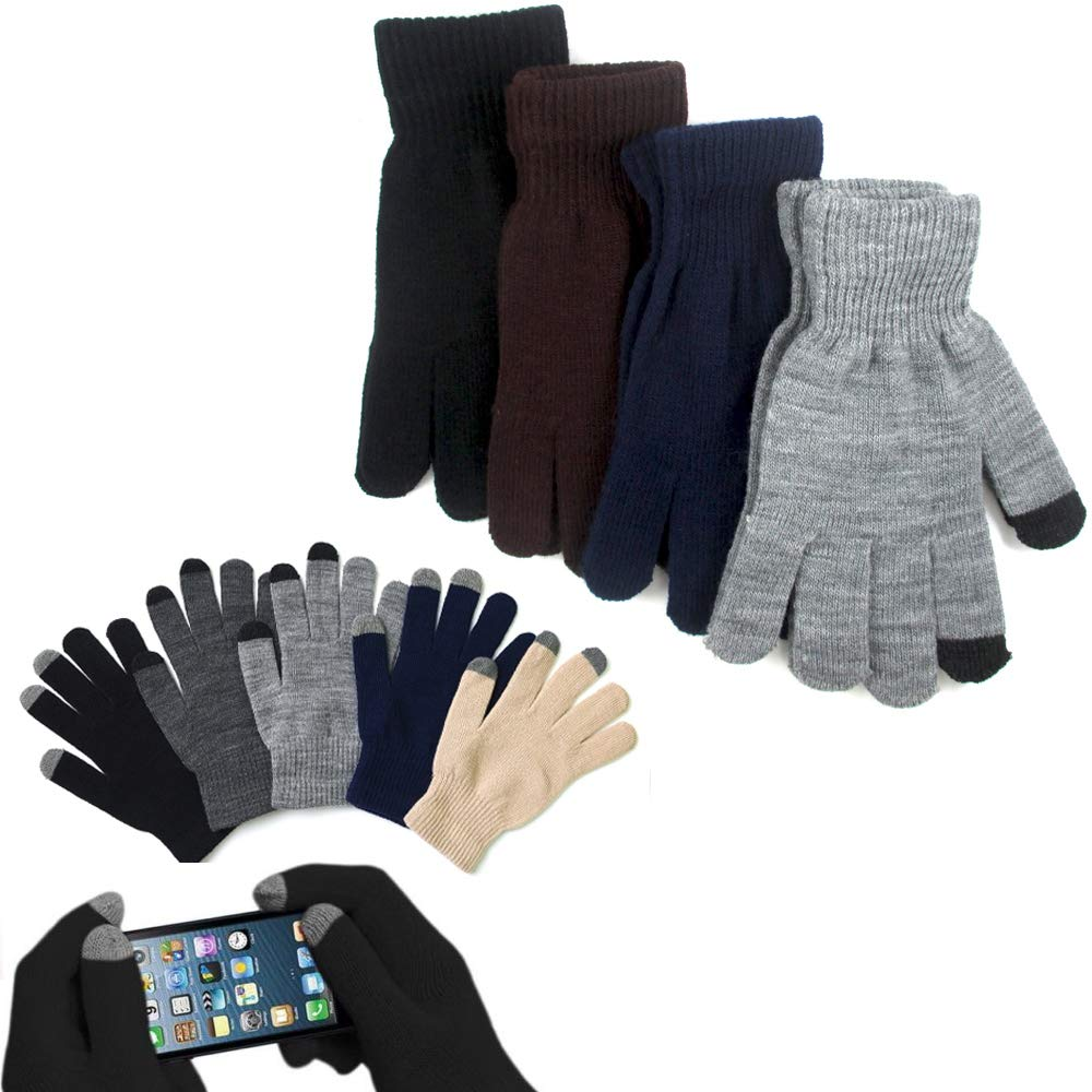 1 par Magic elástico guantes Smartphone pantalla táctil para enviar mensajes talla única con aislamiento: Amazon.es: Amazon.es