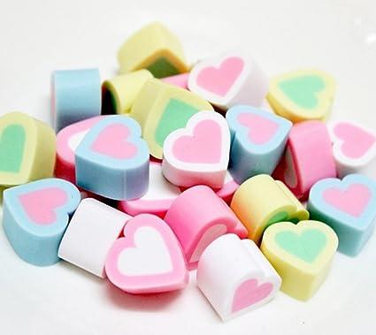 Amazon com: Skyseen 20PCS Heart Shape Artificial Marshmallow