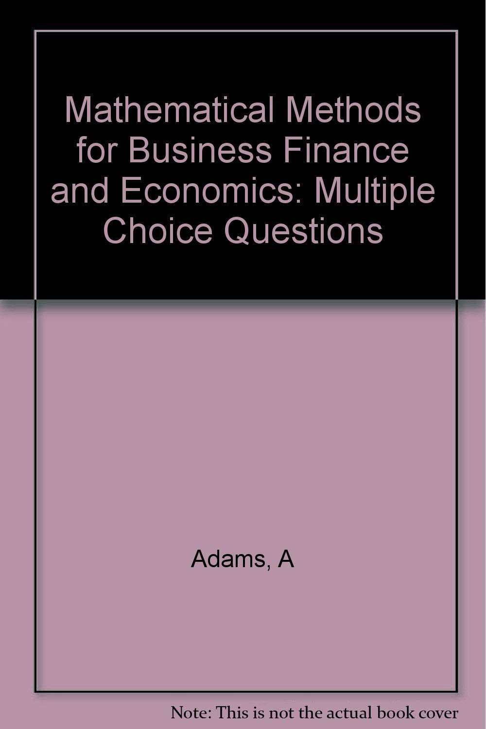 finance multiple choice questions