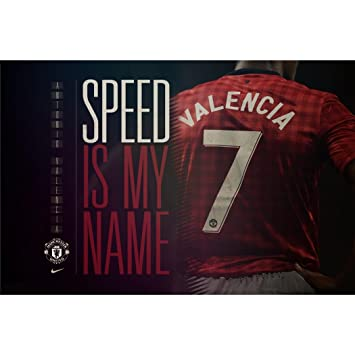 Amazon.com: Antonio Valencia Poster On Silk <91cm x 60cm ...