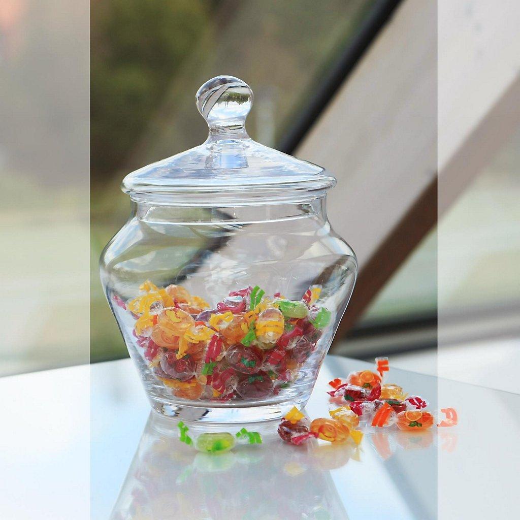 CRISTALICA Caramelle Dolci in vetro Jarfamous H = 24 cm in vetro trasparente stile moderno