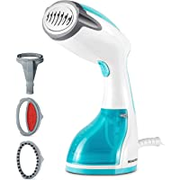BEAUTURAL 1200-Watt Handheld Steamer for Clothes,30 Second Heat-up,8.79 Fluid Ounce Water Tank,Aqua
